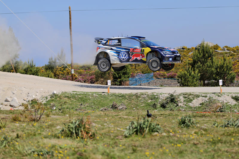 French driver Sebastien Ogier and co-driver Julien Ingrassia stock images