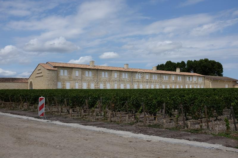 French famous winery. Photograph of a famous french winery of the medoc region stock image