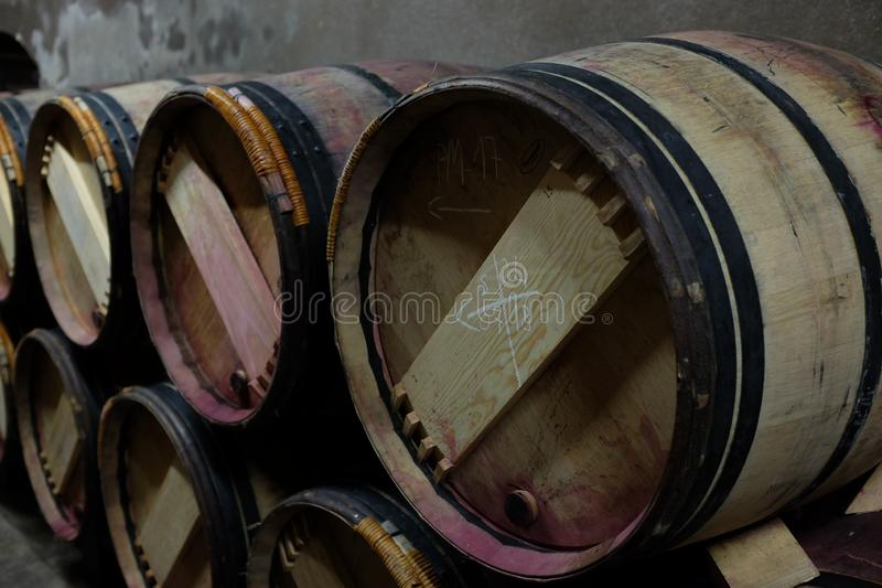 French famous winery. Photograph of a famous french winery of the medoc region stock photos