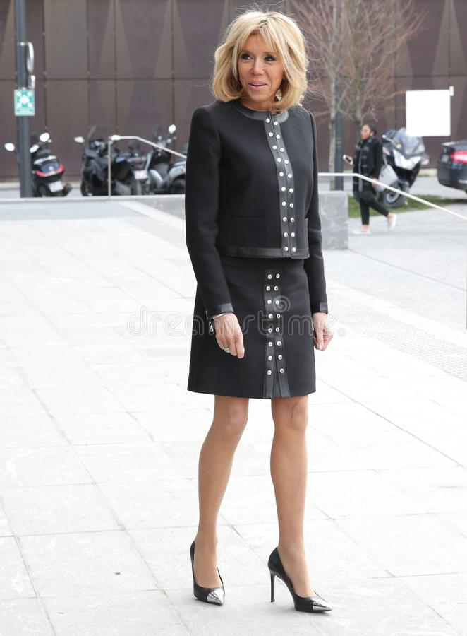 French First Lady Brigitte Macron. In Paris, France, 20 March 2018 stock image