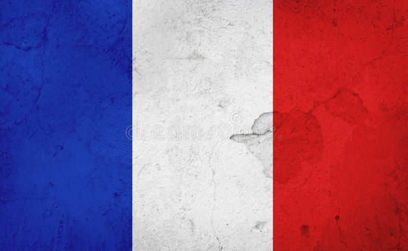 French flag royalty free illustration