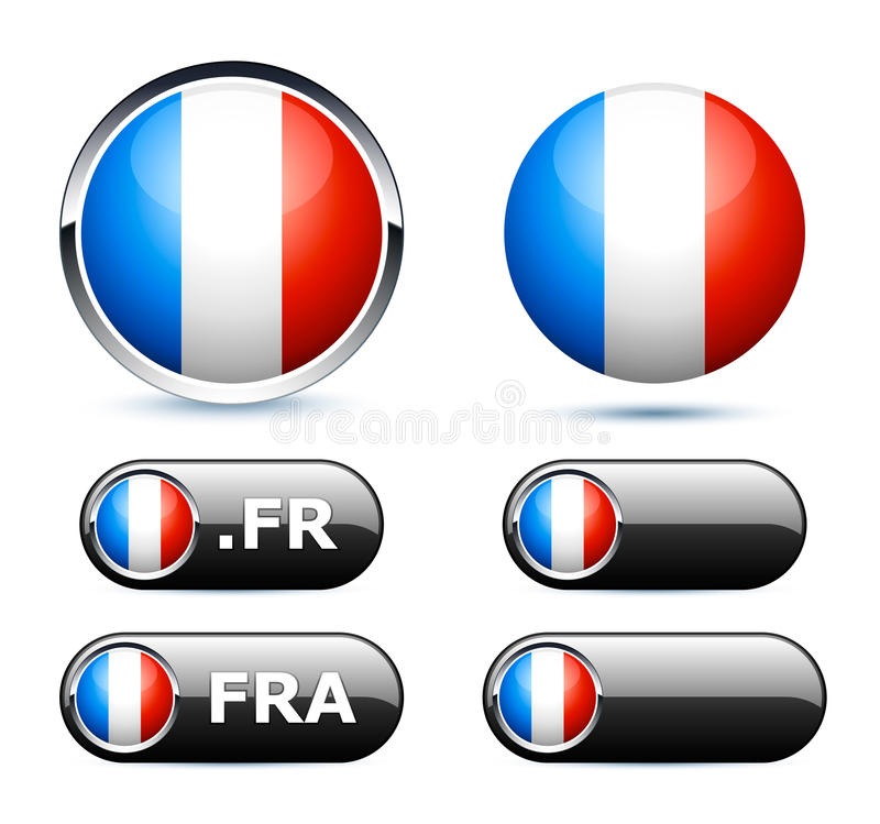 Download French flag stock vector. Image of international, glass - 18580547
