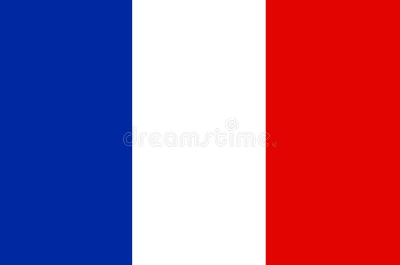 French Flag vector illustration
