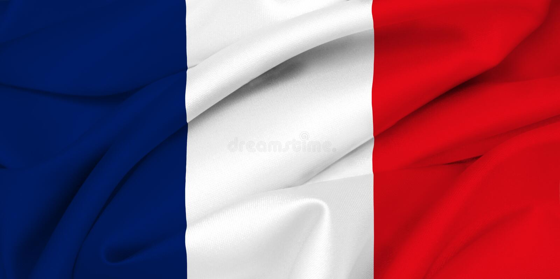 French flag - France stock illustration