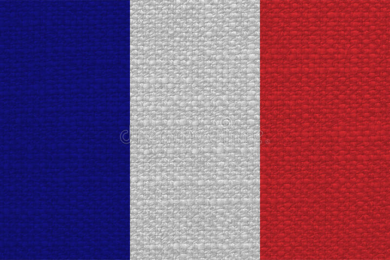 french flag of france with fabric texture stock photo - image of