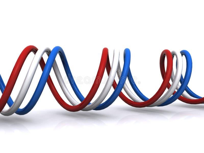 Download French flag spiral stock illustration. Illustration of rolled - 28460586