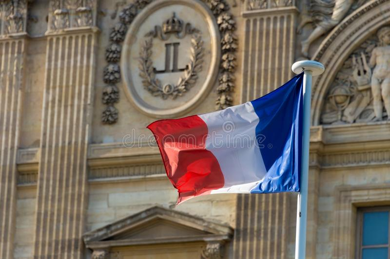 French flag waving royalty free stock image