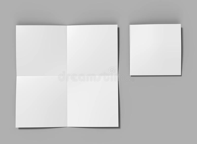 French Fold Square Brochure Flyer Leaflet For Mock Up And Template