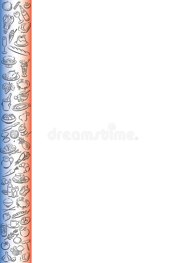 Download French food border stock vector. Image of colored, client - 6232902