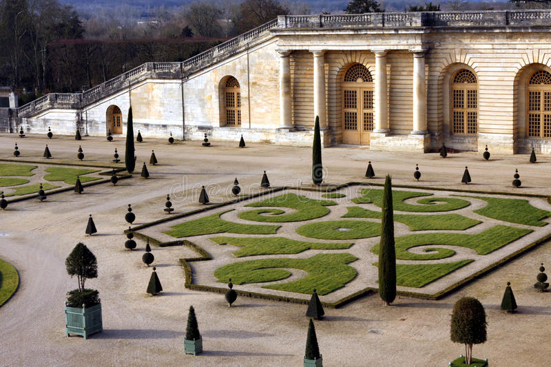 French formal garden. The French formal garden, also called the jardin à la française (literally, garden in the French manner in French), is a style of royalty free stock photo