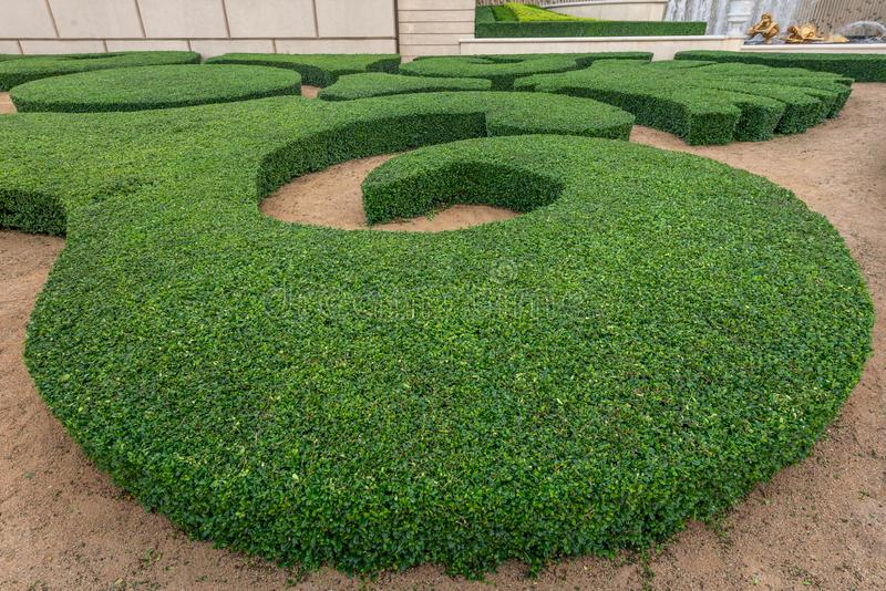 French formal garden stock images