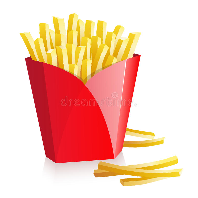 Download French fries stock vector. Illustration of calories, meal - 10318928