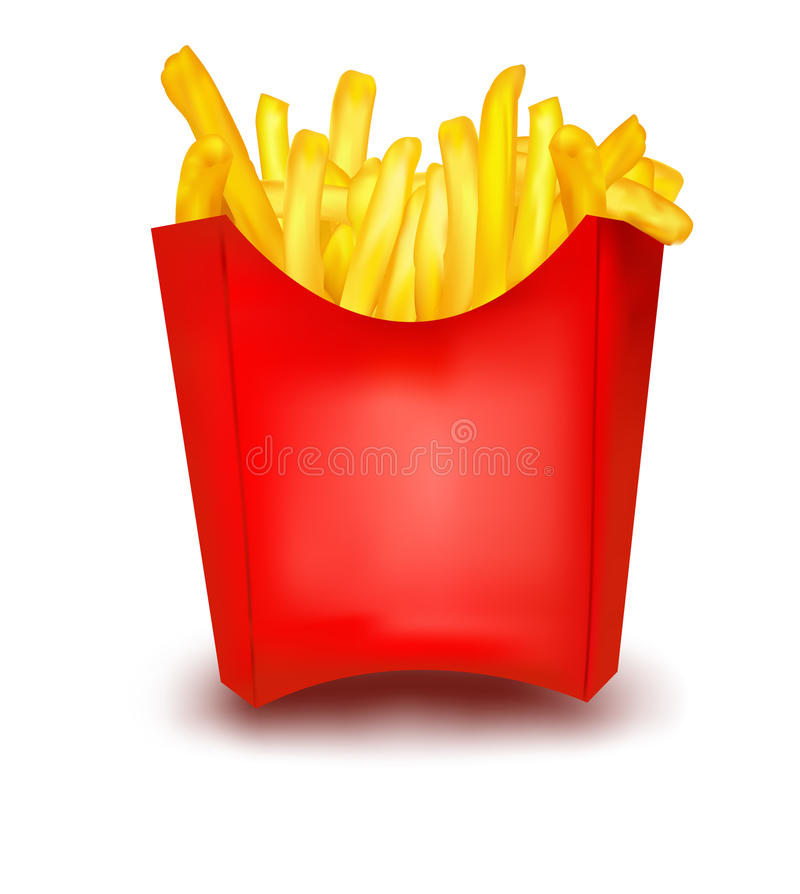 French fries. royalty free illustration