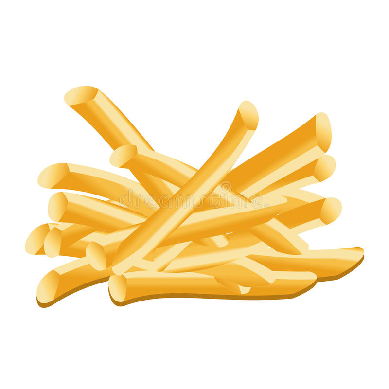 Download French fries stock vector. Image of meal, junk, cooked - 15188019