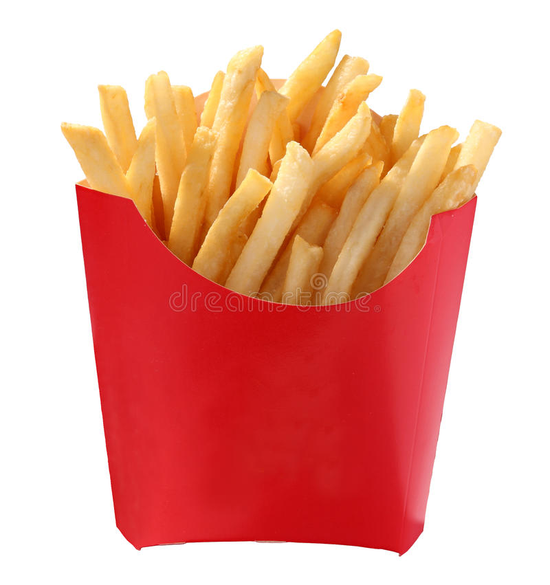 French fries. On white background stock photo