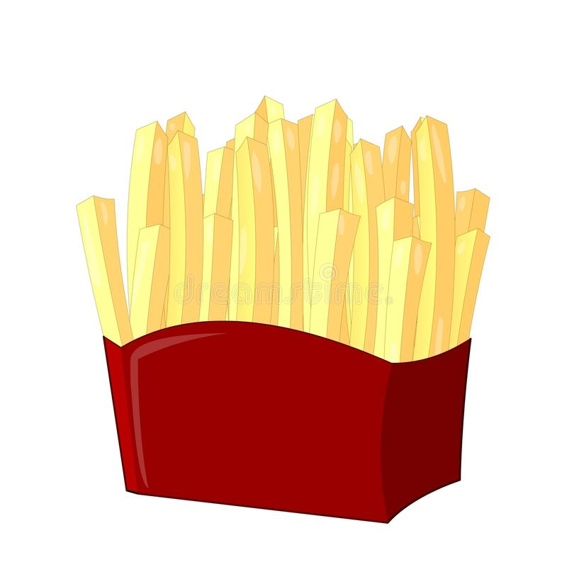 French fries. In packaging bag illustration vector illustration
