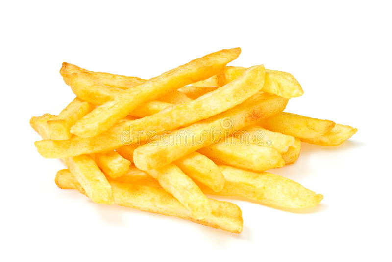 French Fries. On White stock photo