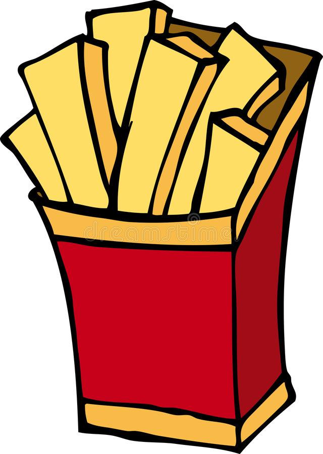 French fries royalty free illustration