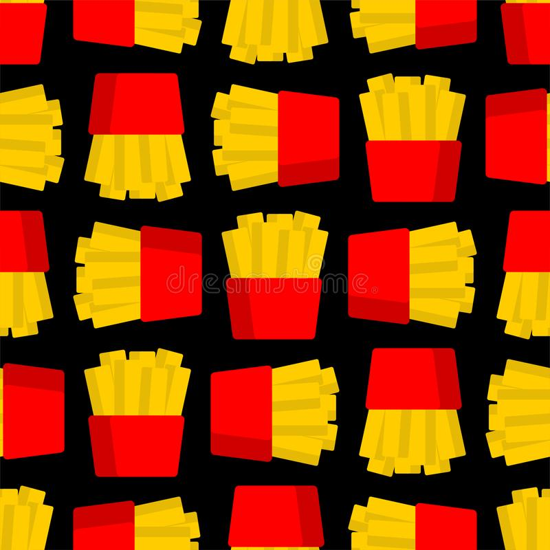 French fries cartoon pattern seamless. Vector background vector illustration