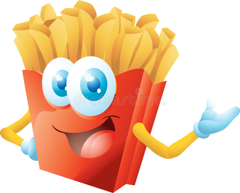 french fries cartoon royalty free stock photography