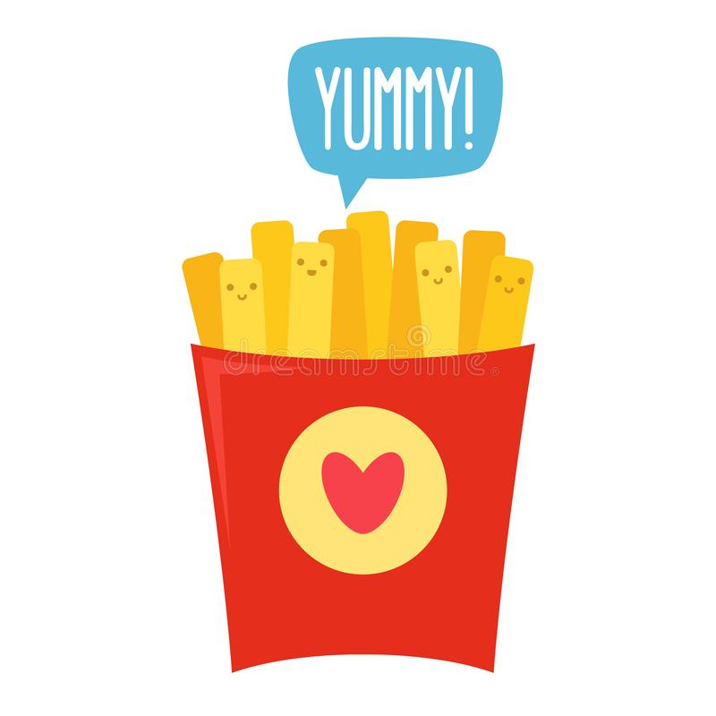French fries. Vector royalty free illustration