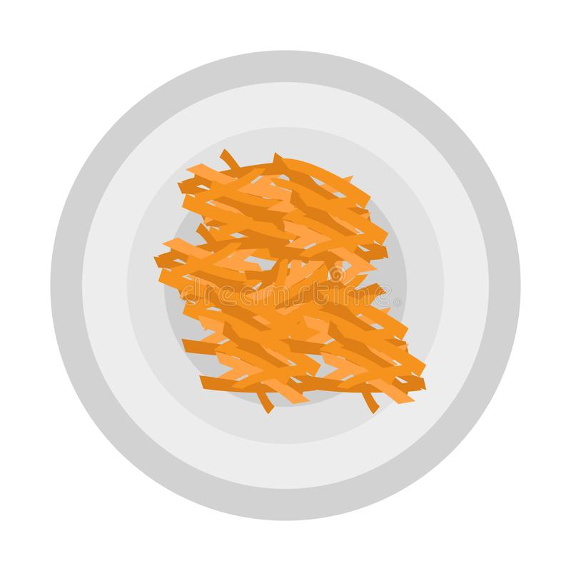 French fries icon vector illustration