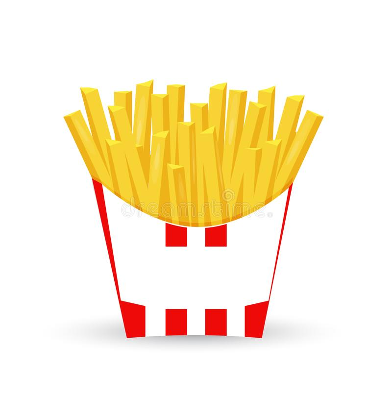 french fries illustration design isolated royalty free illustration