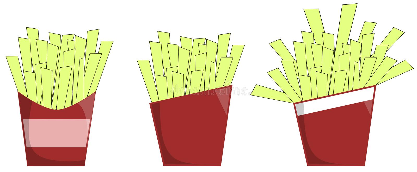 French fries stock illustration