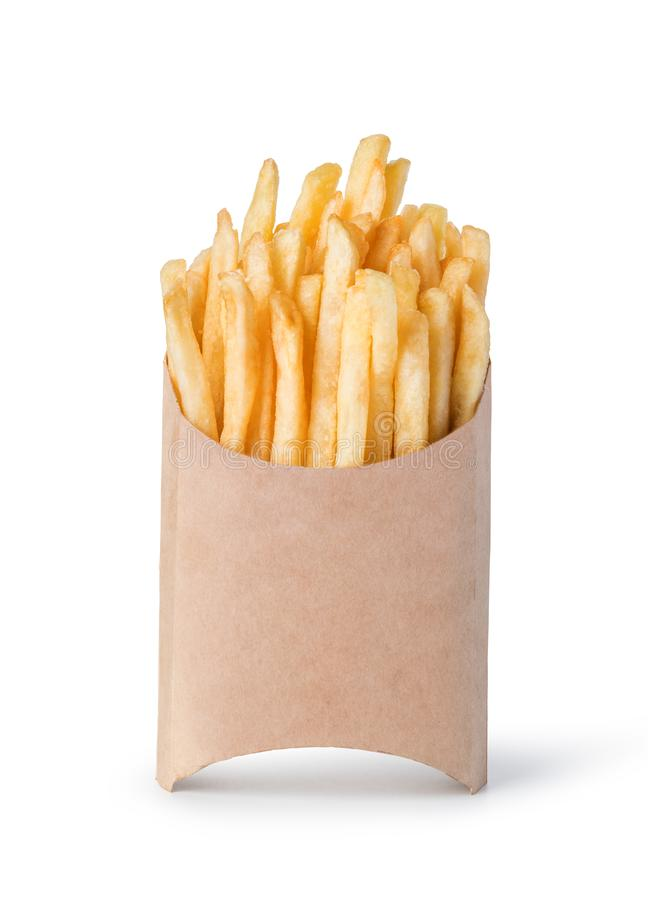 French fries isolated on white royalty free stock image