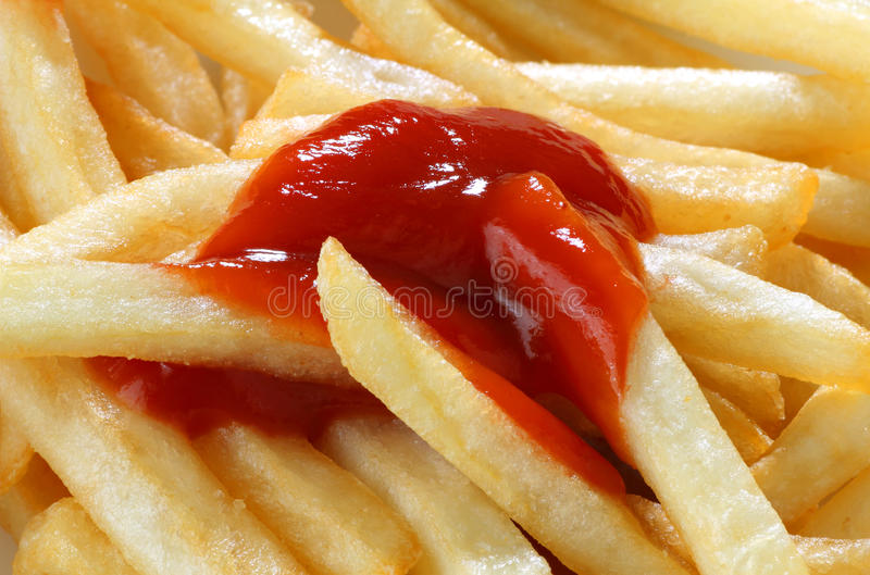 Download French fries with ketchup stock photo. Image of fries - 24639148