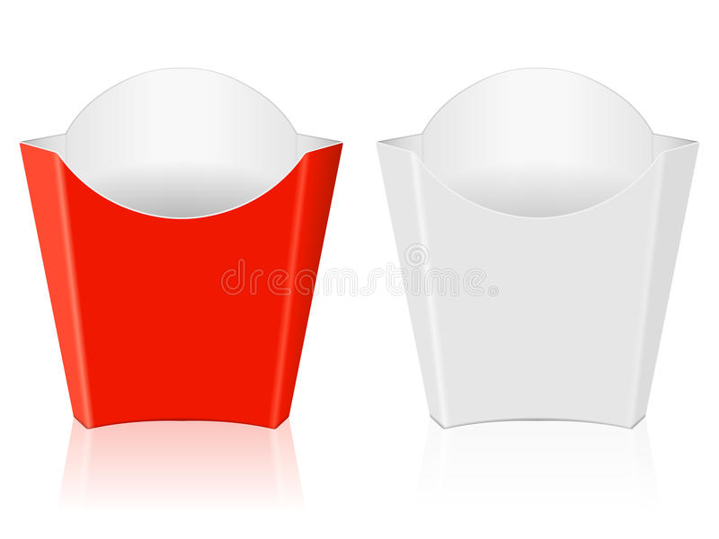 French fries paper box vector illustration