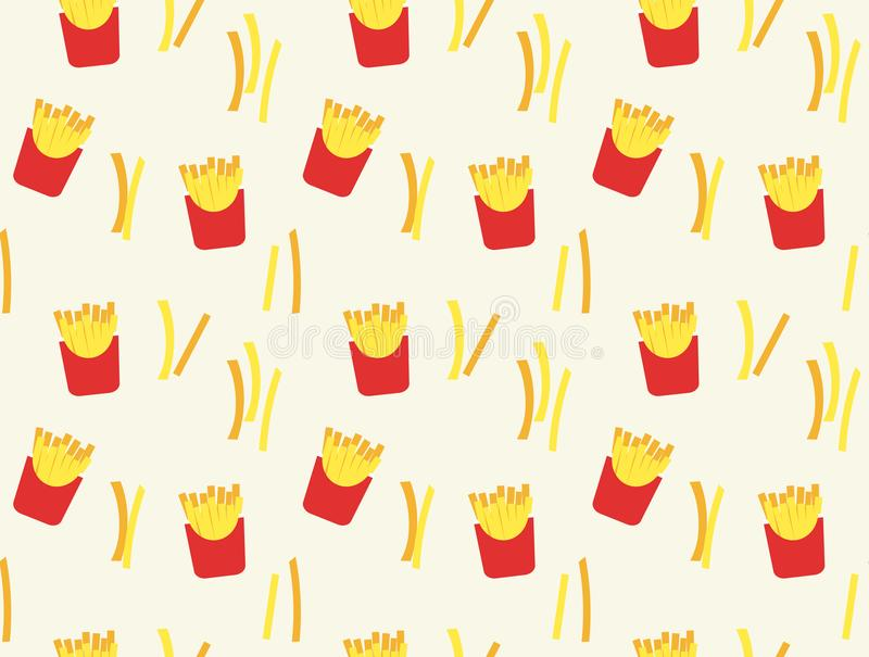 French fries pattern background vector illustration