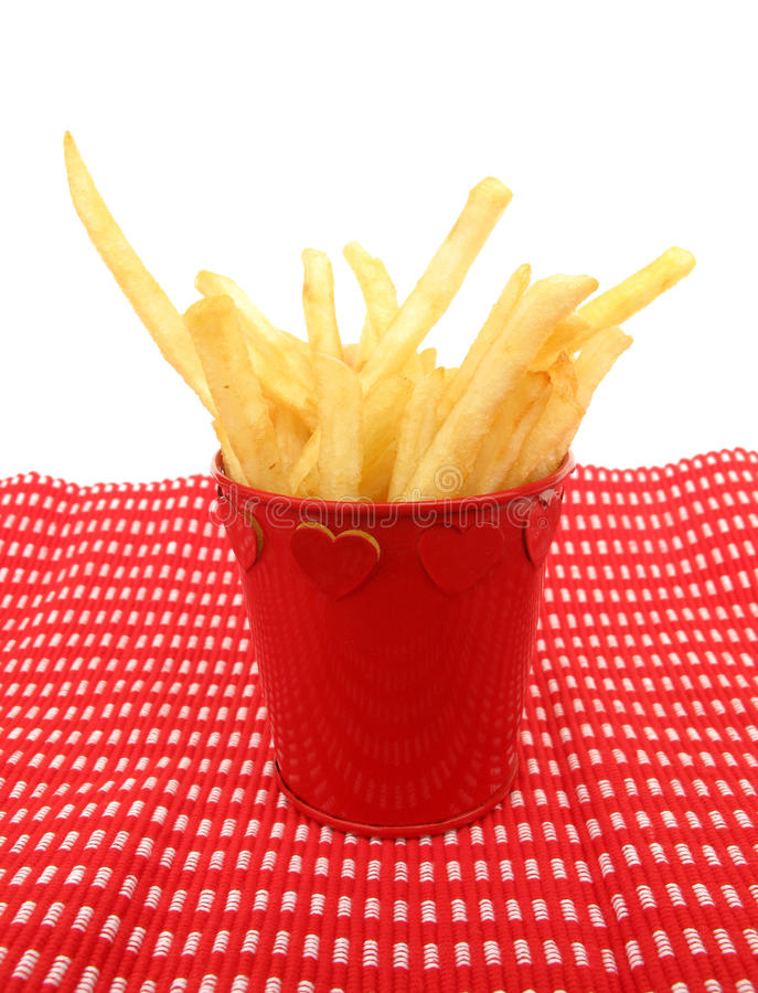 Download French Fries Potatoes In A Red Cup Stock Image - Image: 12541121