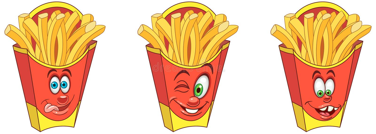 French Fries. Snack Food concept vector illustration