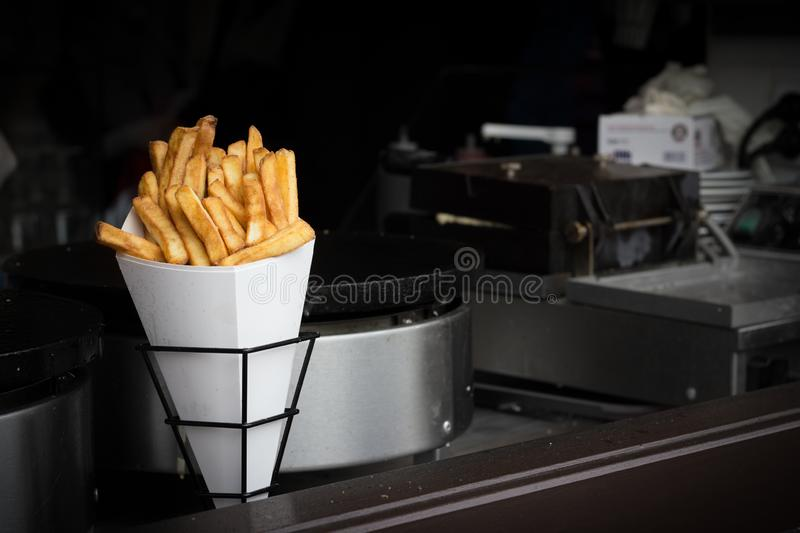 French fries street food royalty free stock photo