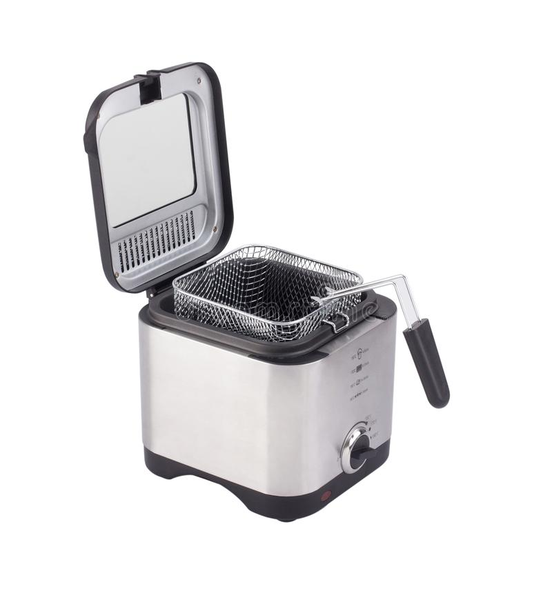French fry or deep fryer machine isolated on white stock image