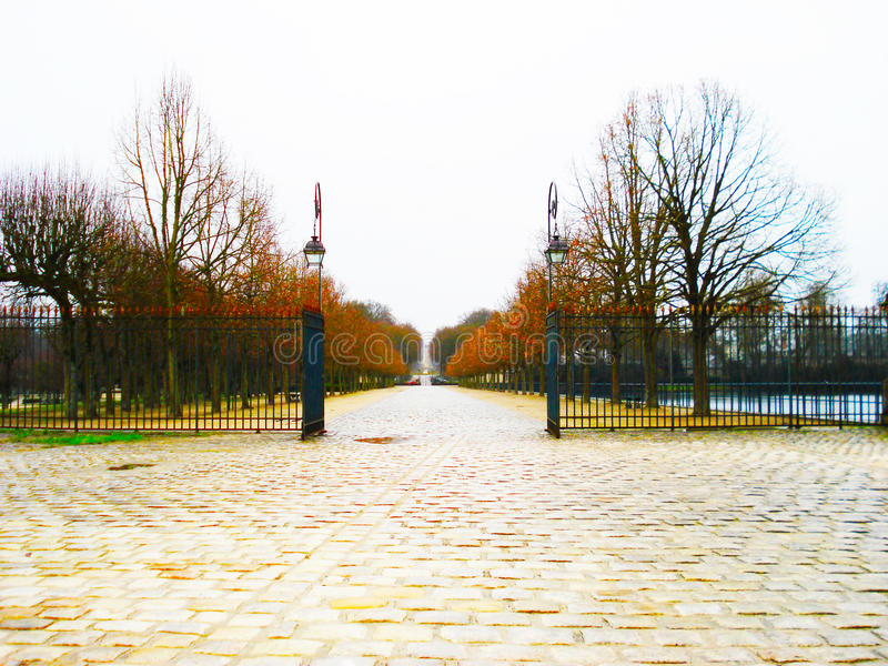 French Gates In The Fall Paris stock images