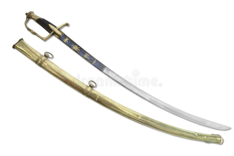 French general sabre stock images