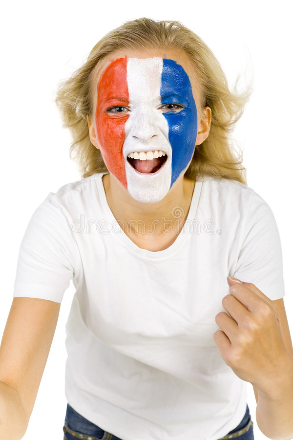 French girl royalty free stock photography