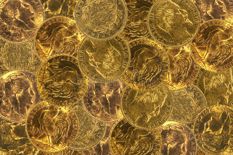 French gold coins royalty free stock images