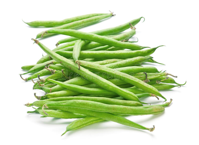 French green bean. Vegetable isolated on white royalty free stock image