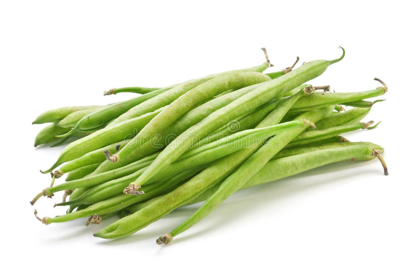 French green bean. Vegetable isolated on white stock photography