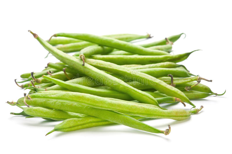 French green bean. Vegetable isolated on white stock image
