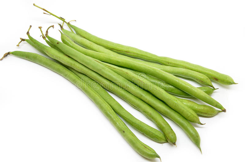 French green bean. String isolated on white background stock image