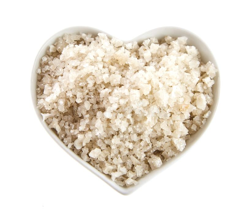 French Guerande sea salt from Brittany stock photography