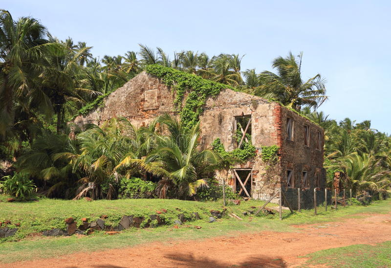 French Guiana, Iles du Salut (Islands of Salvation): Royal Island - Prison Workshop stock images