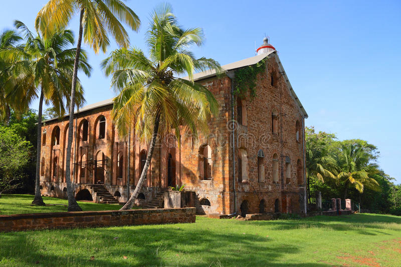 French Guiana, Royal Island: Former Penal Settelment - Military Hospital stock image