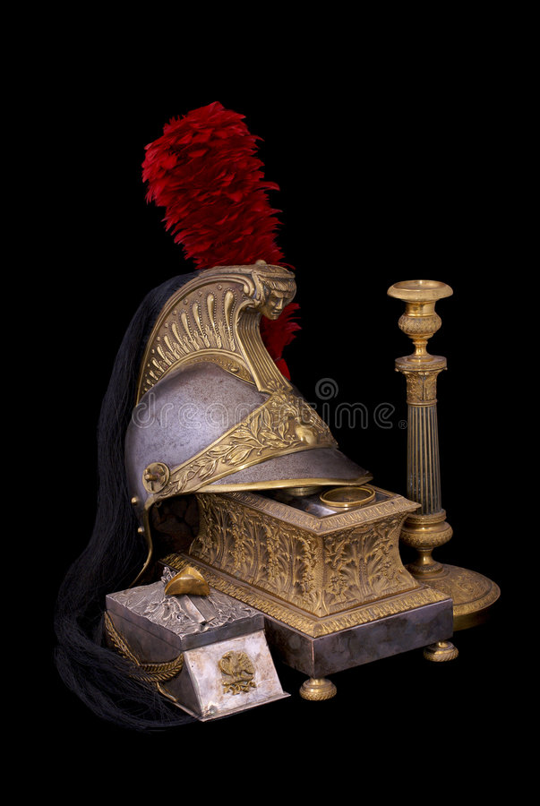 Download French Helmet, Inkstand And Candlestick Stock Image - Image: 7284893
