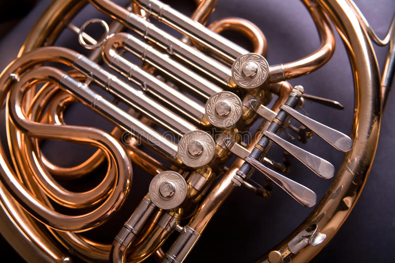 Download French Horn stock photo. Image of curve, horn, trumpet - 17163478