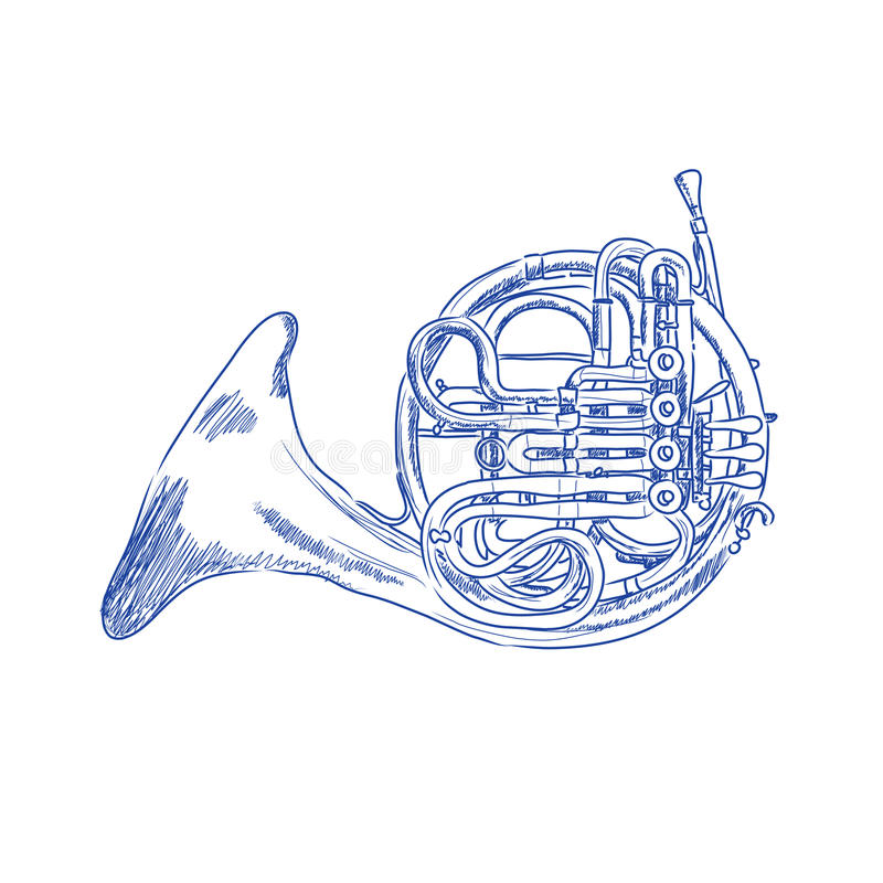 Download French Horn Royalty Free Stock Photos - Image: 18208548